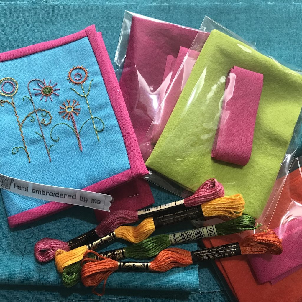 Introduction to Hand Embroidery - create your own needle-case using surface stitch